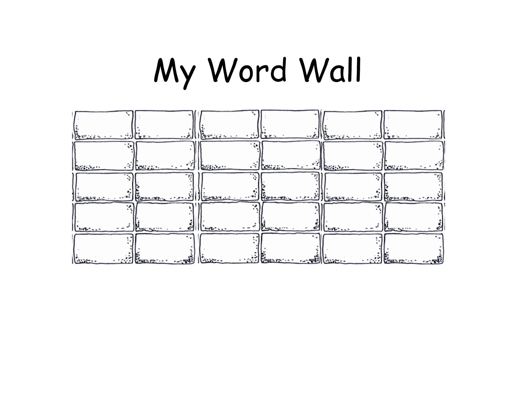 Blank+Printable+Word+Wall+Templates   Descriptive Words Within Blank Word Wall Template Free