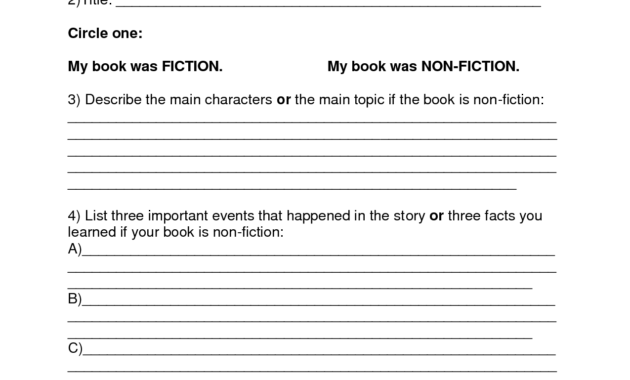 Book Report Template | Summer Book Report 4Th -6Th Grade with Book Report Template 6Th Grade