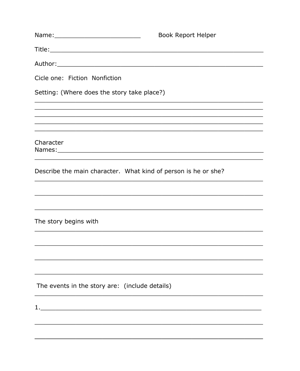 Book Report Templates From Custom Writing Service Within One Page Book Report Template