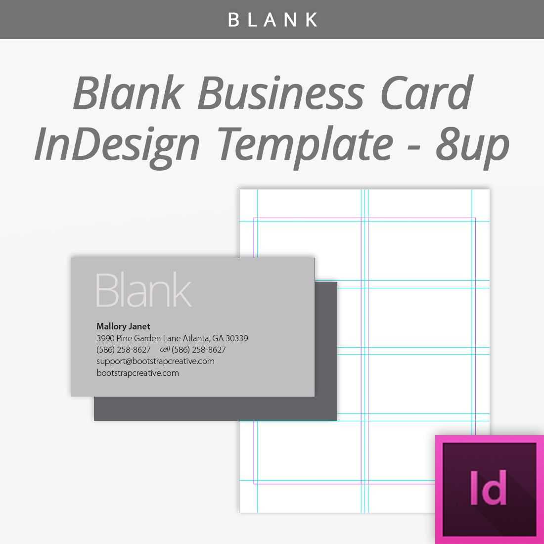 Bootstrap Creative | Blank Business Cards, Indesign Within Blank Business Card Template Download