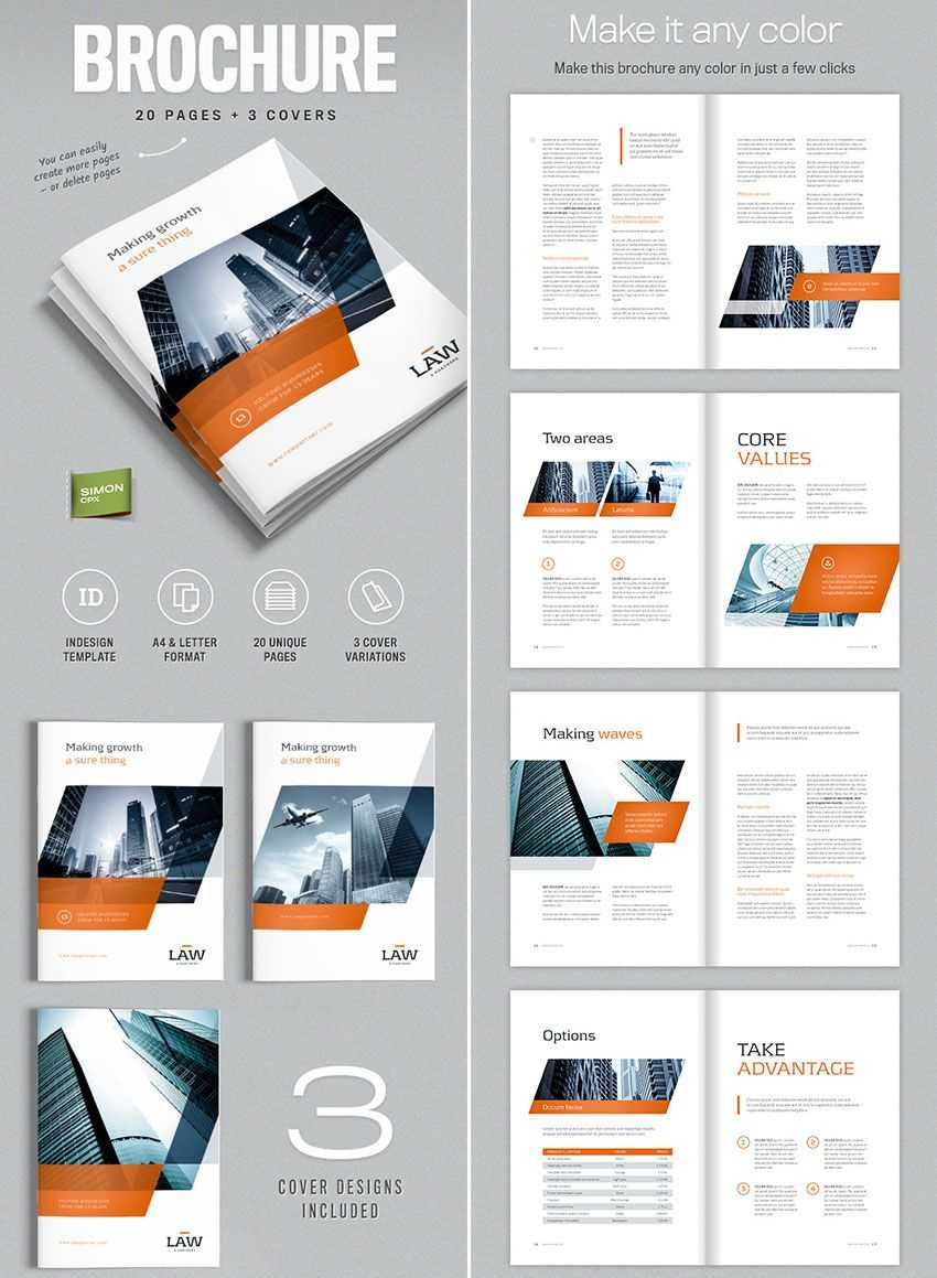 Brochure Template For Indesign - A4 And Letter | Amann Throughout Brochure Template Indesign Free Download