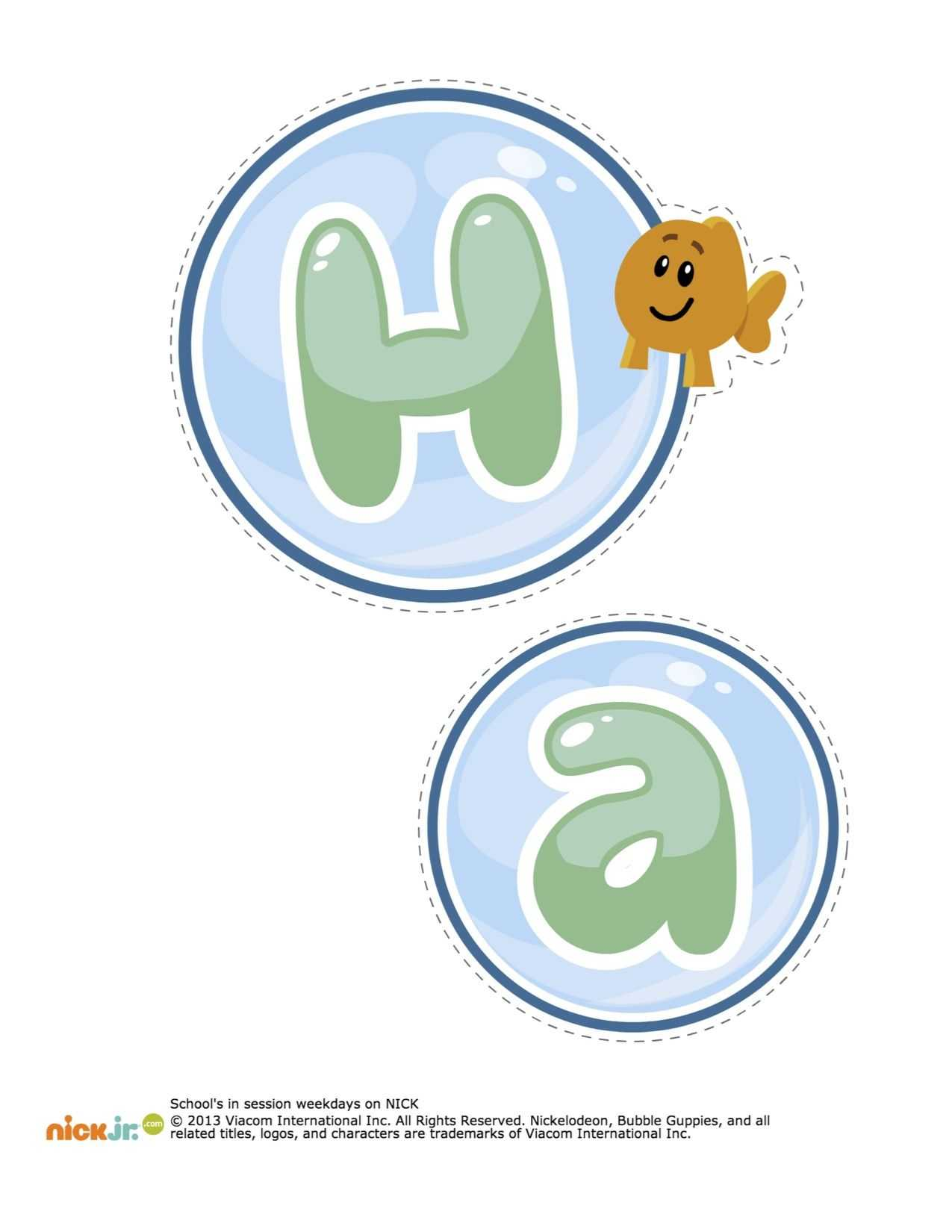 Bubble Guppies Happy Birthday Decorations Printable   Bubble Pertaining To Bubble Guppies Birthday Banner Template