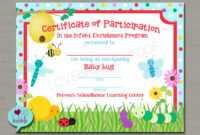 "Bugs Award, Spring School Gymnastics Dance Tumbling Preschool Kindergarten  Toddler Award Certificate Printable Digital File 8.5"" X 11"" with regard to Gymnastics Certificate Template"