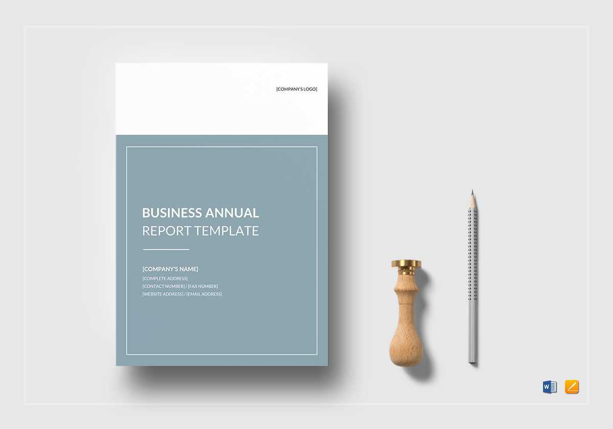 Business Annual Report Template Inside Word Annual Report Template