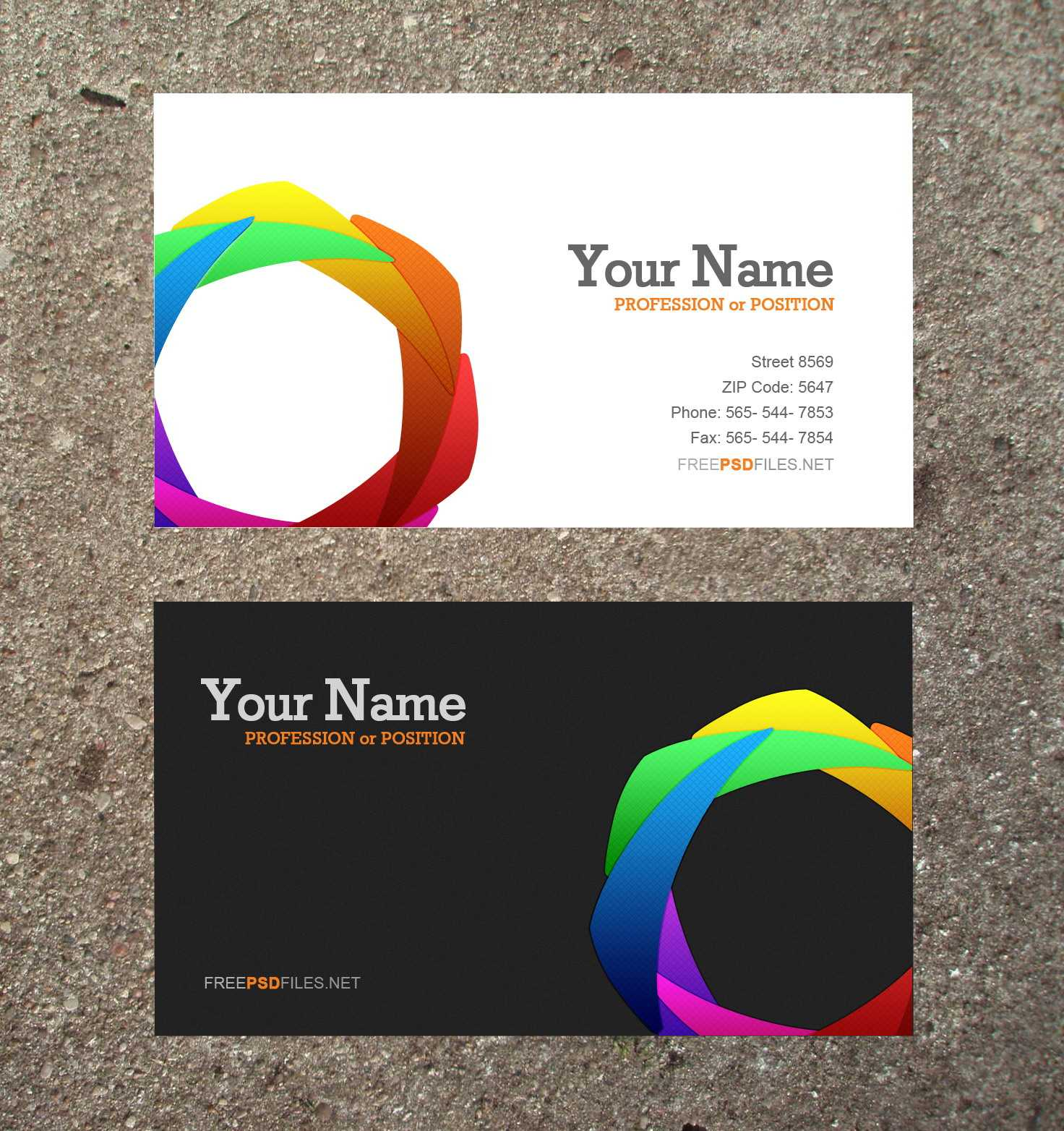Business Card Free Templates Download   Business Card Sample For Blank Business Card Template Download