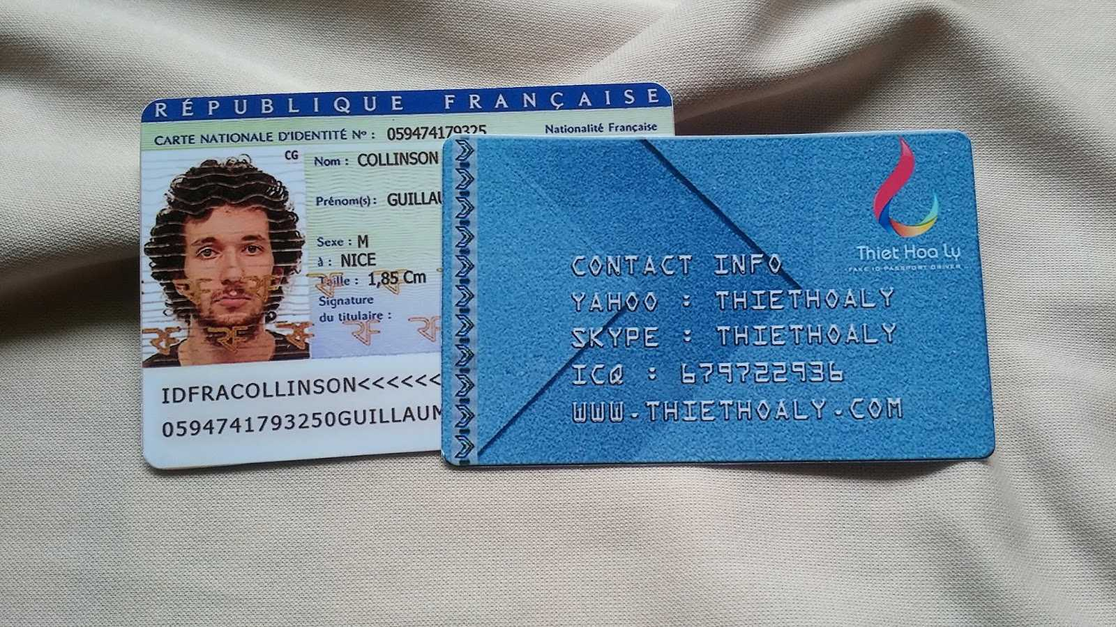 Buy France Id Card Online | License Makers Regarding French Id Card Template