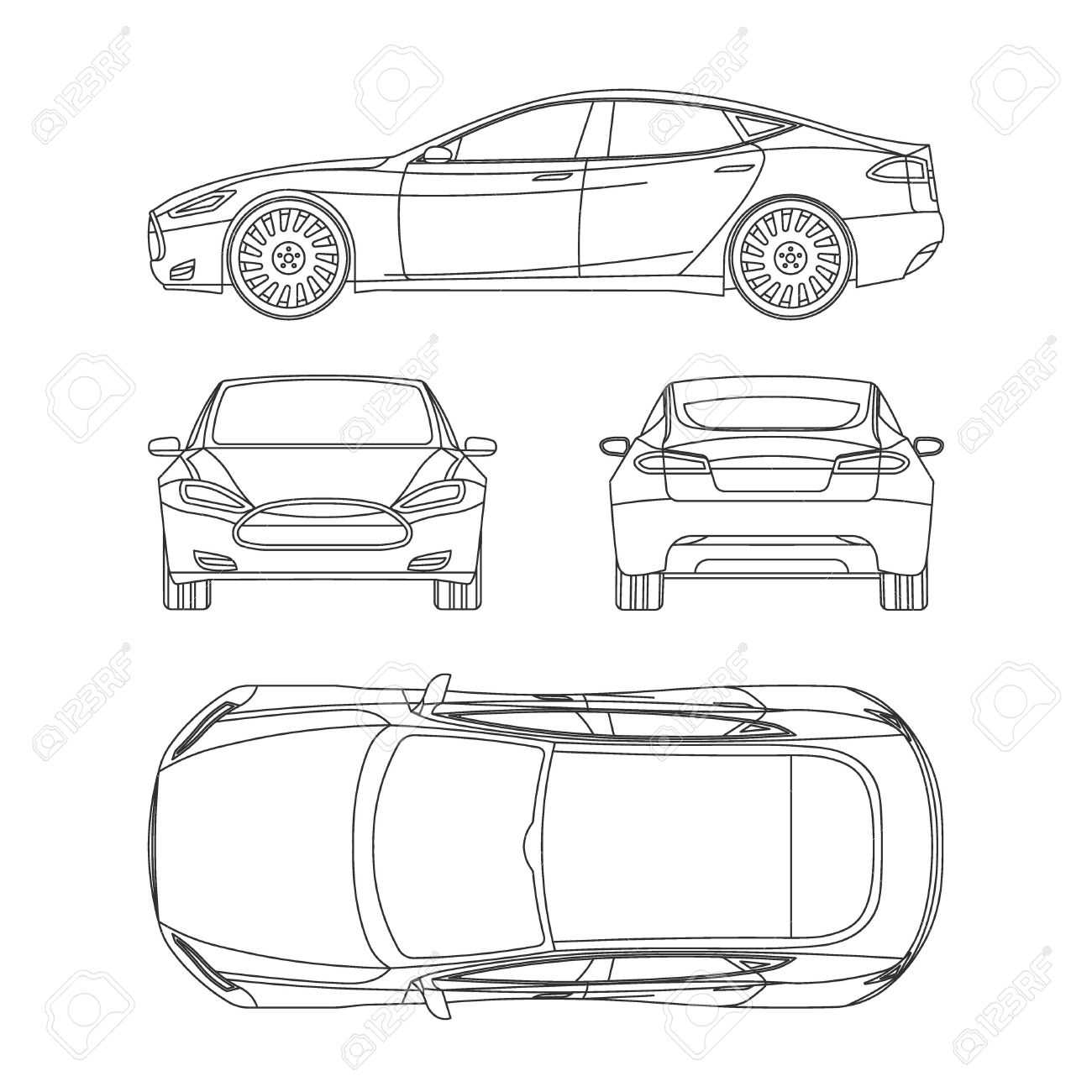 Car Line Draw Insurance, Rent Damage, Condition Report Form Blueprint With Car Damage Report Template