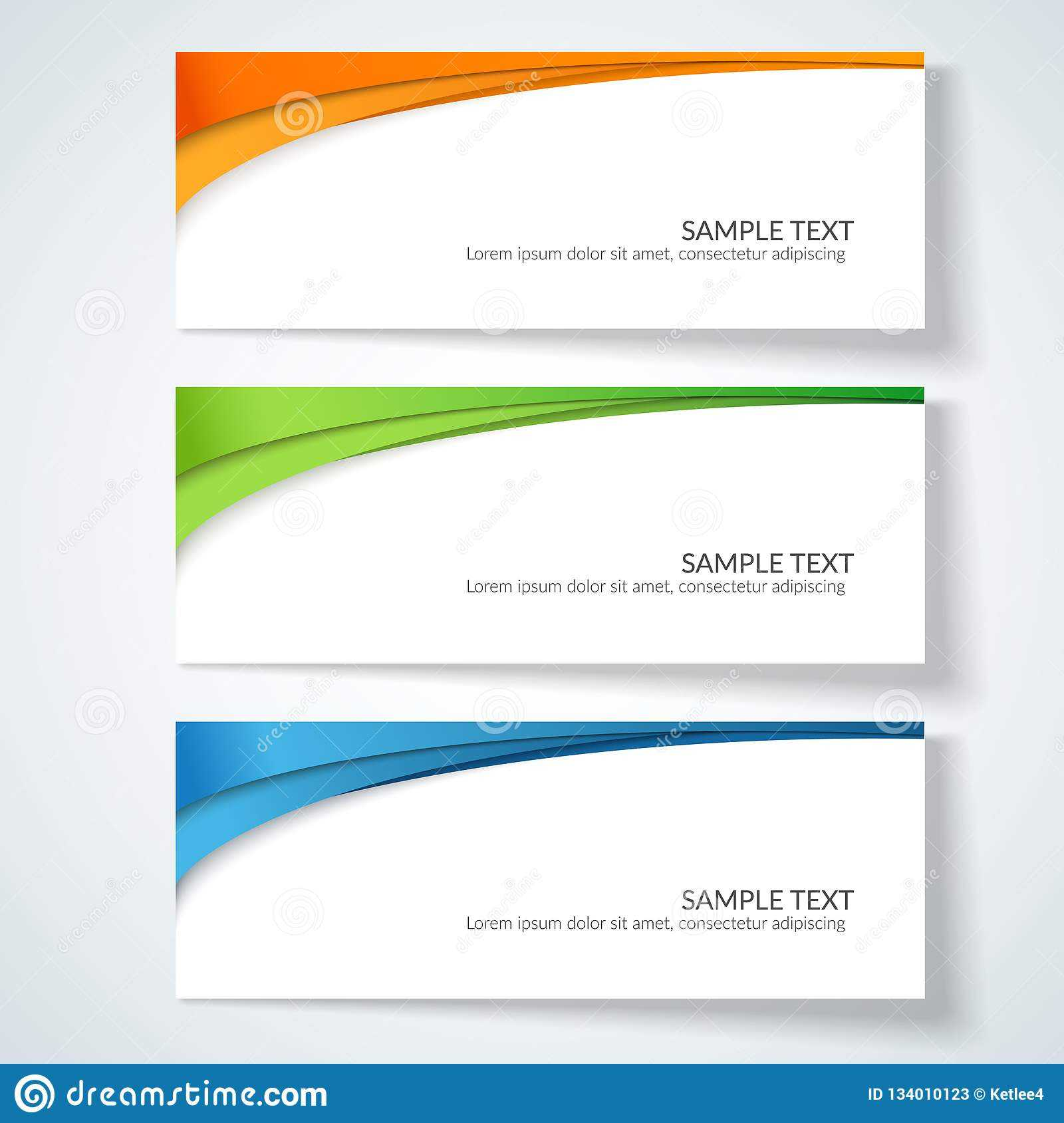 Card With Abstract Wavy Lines Orange Blue Green Stripes Pertaining To Advertising Card Template