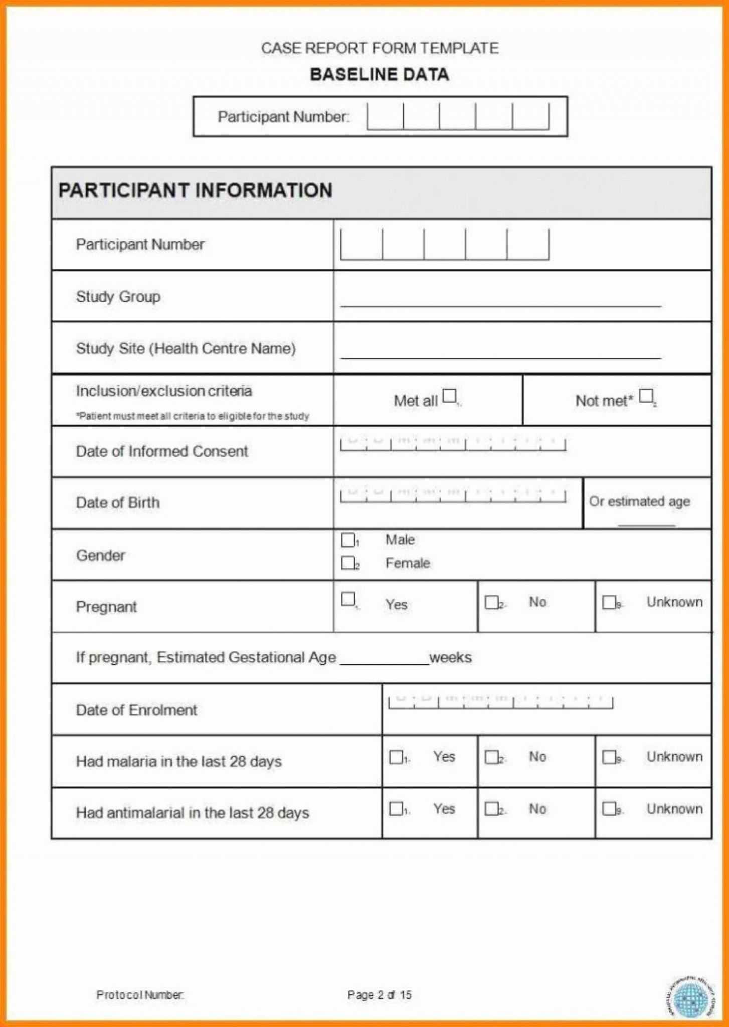 Case Report Form Template Unique Catering Resume Clinical Pertaining To Case Report Form Template