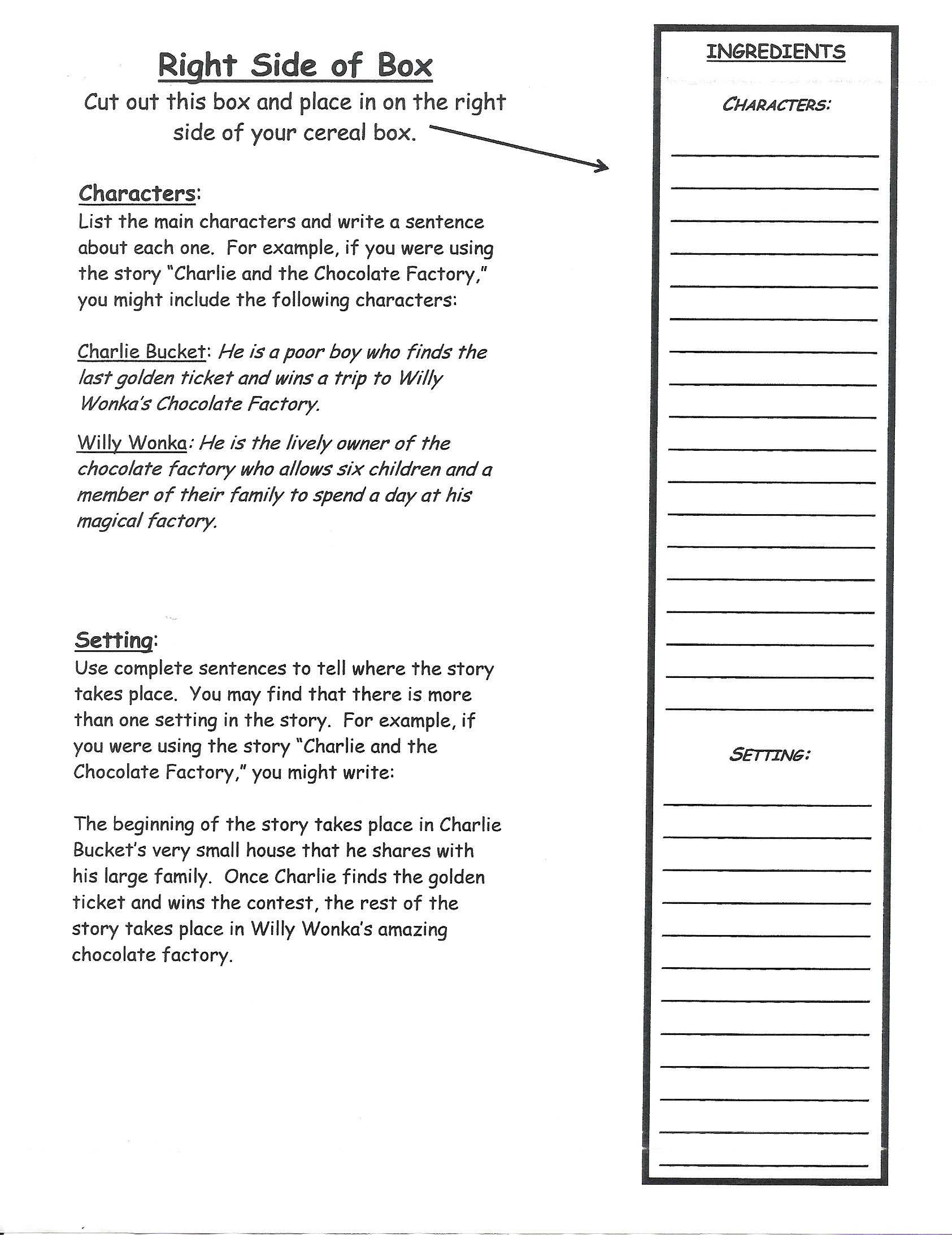 Cereal Box Book Report | Book Report Templates, Book Report With Regard To Cereal Box Book Report Template