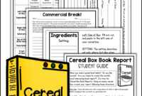 Cereal Box Book Report Kit | Shelly Rees Teaching Resources in Cereal Box Book Report Template