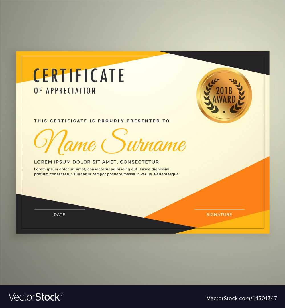 Certificate Design Template With Clean Modern Inside Design A Certificate Template