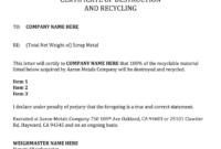 Certificate Of Destruction Template – Fill Online, Printable regarding Certificate Of Destruction Template