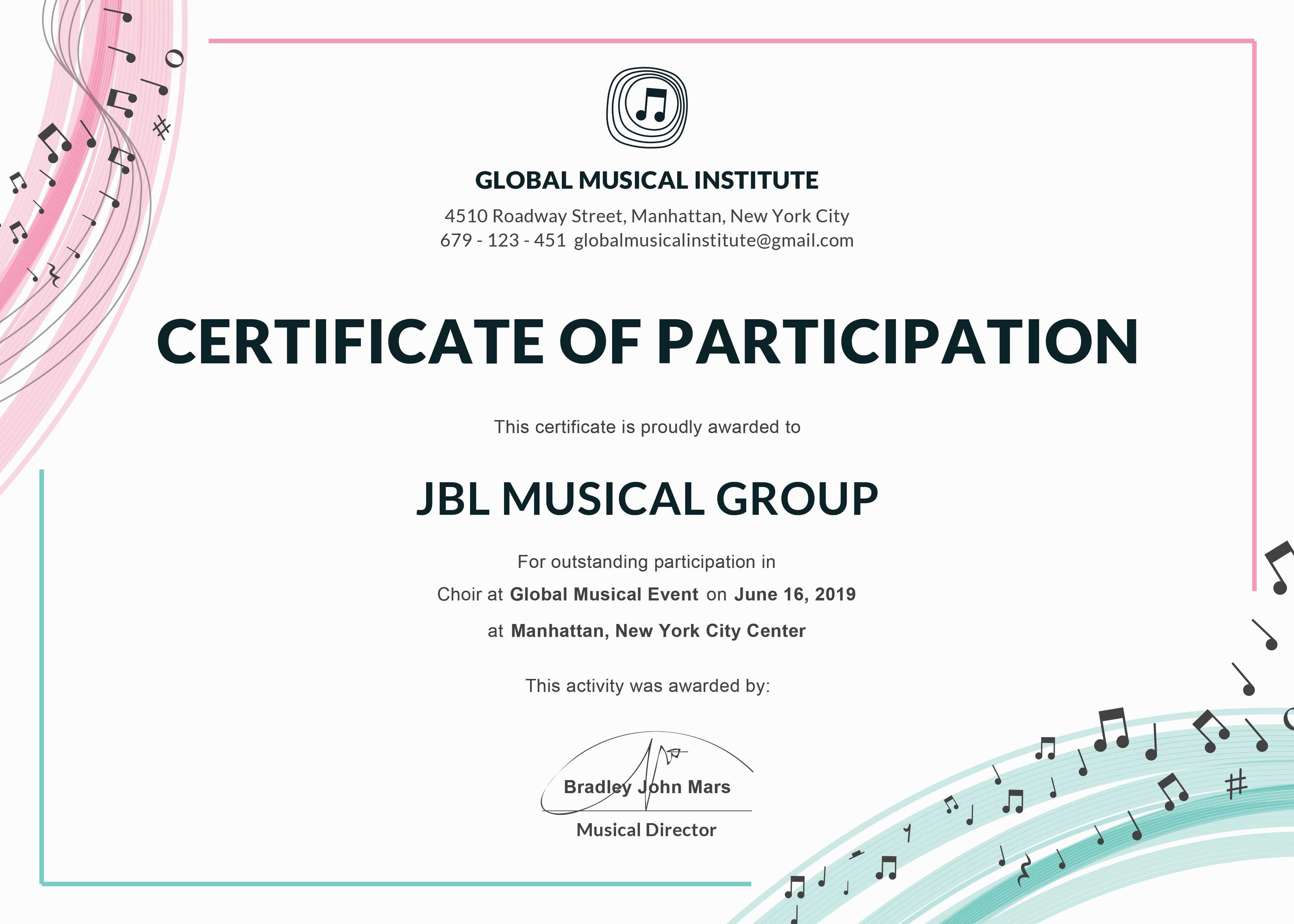 Certificate Of Participation Template Or Word Doc With Docx Intended For Certificate Of Participation Template Doc