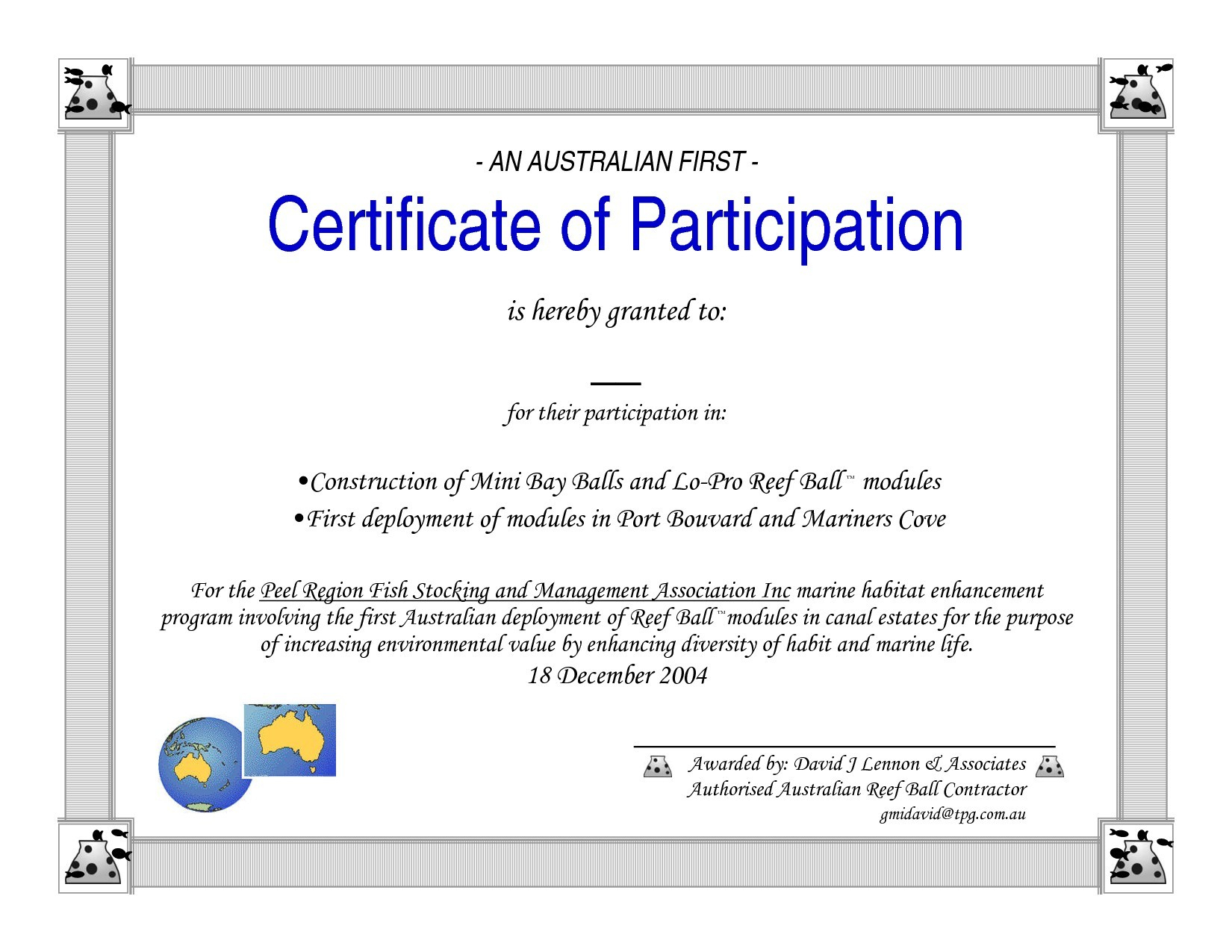 Certificate Of Participation Word Template With Certificate Of Participation Template Word