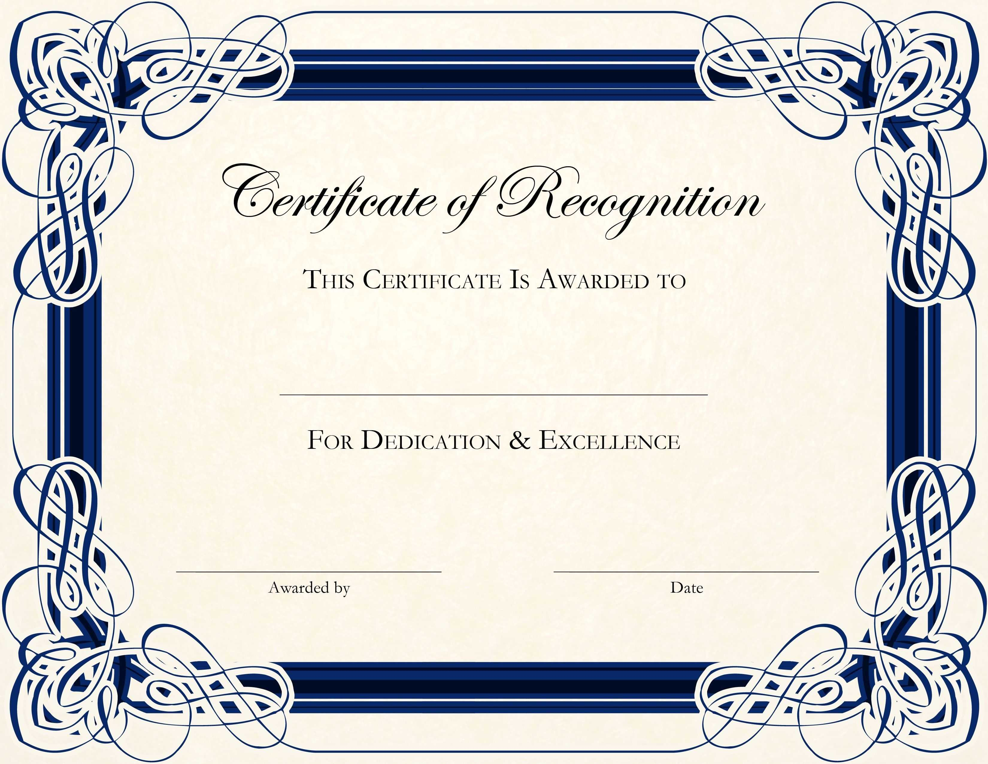 Certificate Of Recognition Template Free The Hidden Agenda For Blank Certificate Templates Free Download