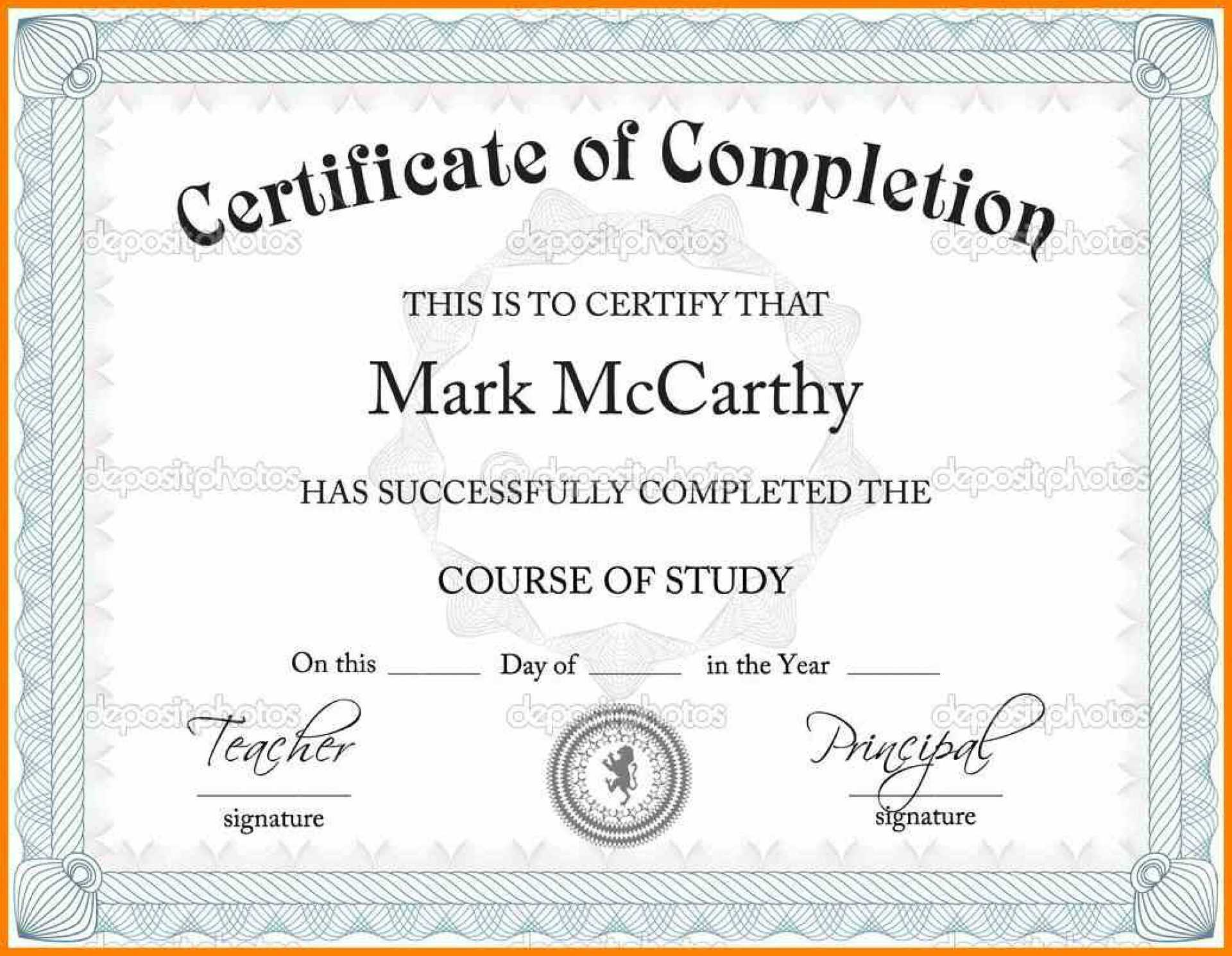 Certificate Template Powerpoint Templates Free Download Intended For Certificate Templates For Word Free Downloads