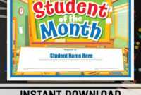 Certificate Templates: Free Student Of The Month with Free Printable Student Of The Month Certificate Templates
