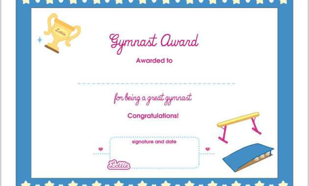Certificate Templates Gymnastics | Sample Customer Service within Gymnastics Certificate Template