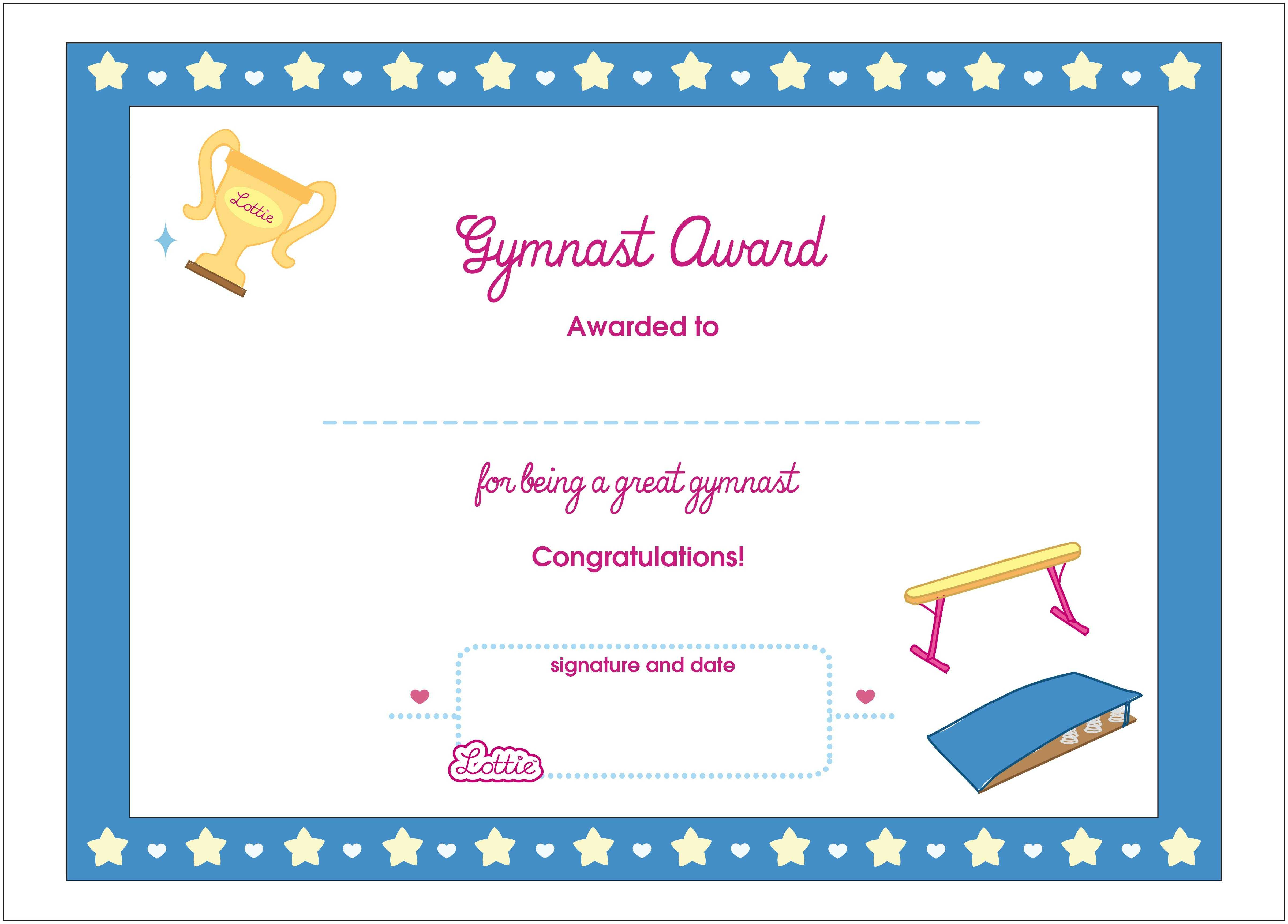 Certificate Templates Gymnastics | Sample Customer Service Within Gymnastics Certificate Template