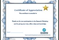 Certificate Templates: Participation Certificate Template Free for Certificate Of Participation Template Doc