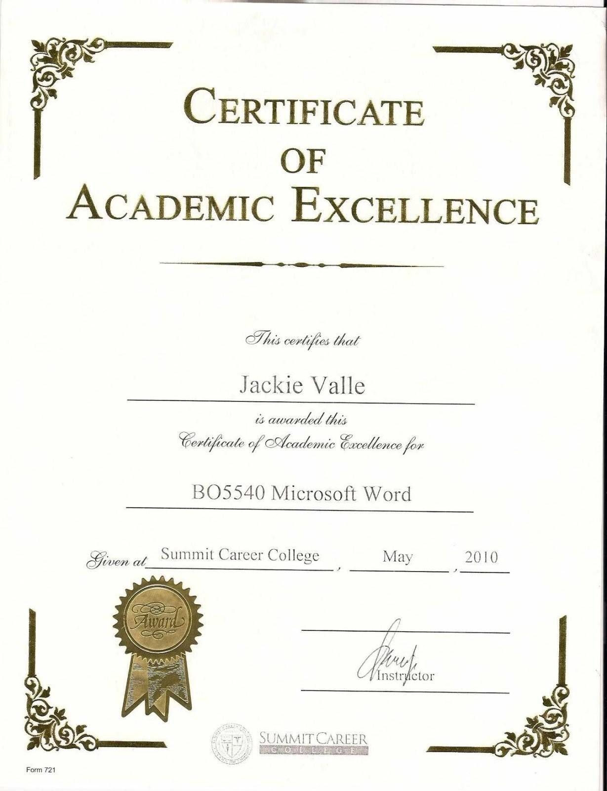 Certificates. Mesmerizing Award Certificate Template Word Regarding Academic Award Certificate Template