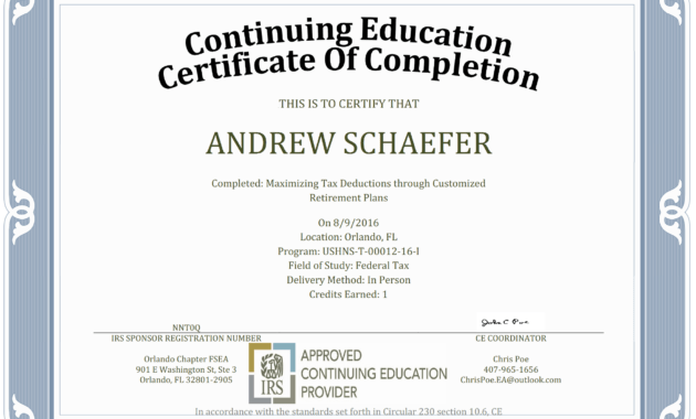 Ceu Certificate Of Completion Template Sample in Ceu Certificate Template