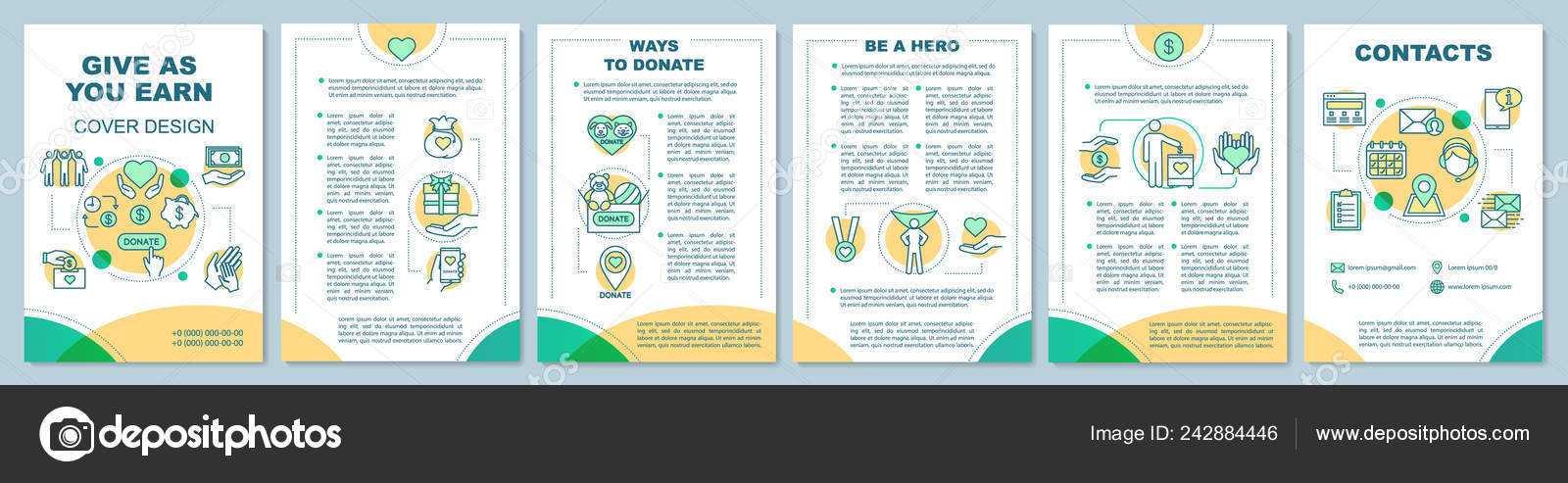 Charity Brochure Vectors   Volunteering Brochure Template pertaining to Volunteer Brochure Template