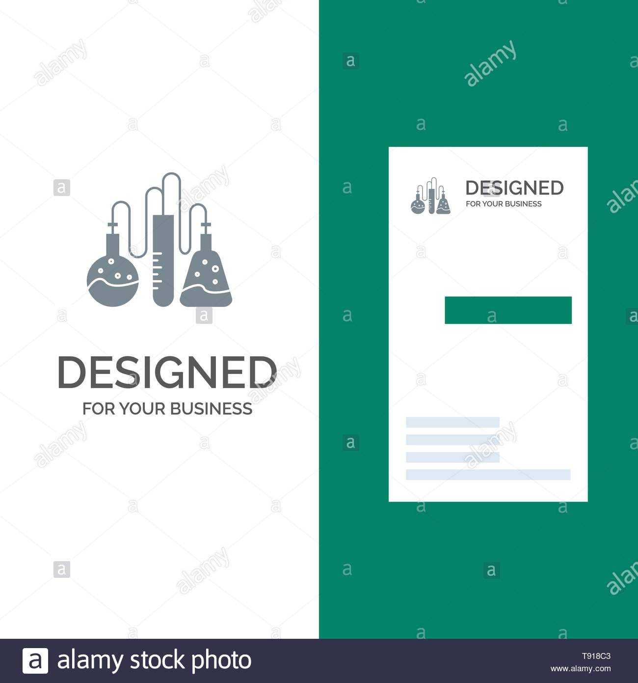 Chemical, Dope, Lab, Science Grey Logo Design And Business Throughout Dope Card Template