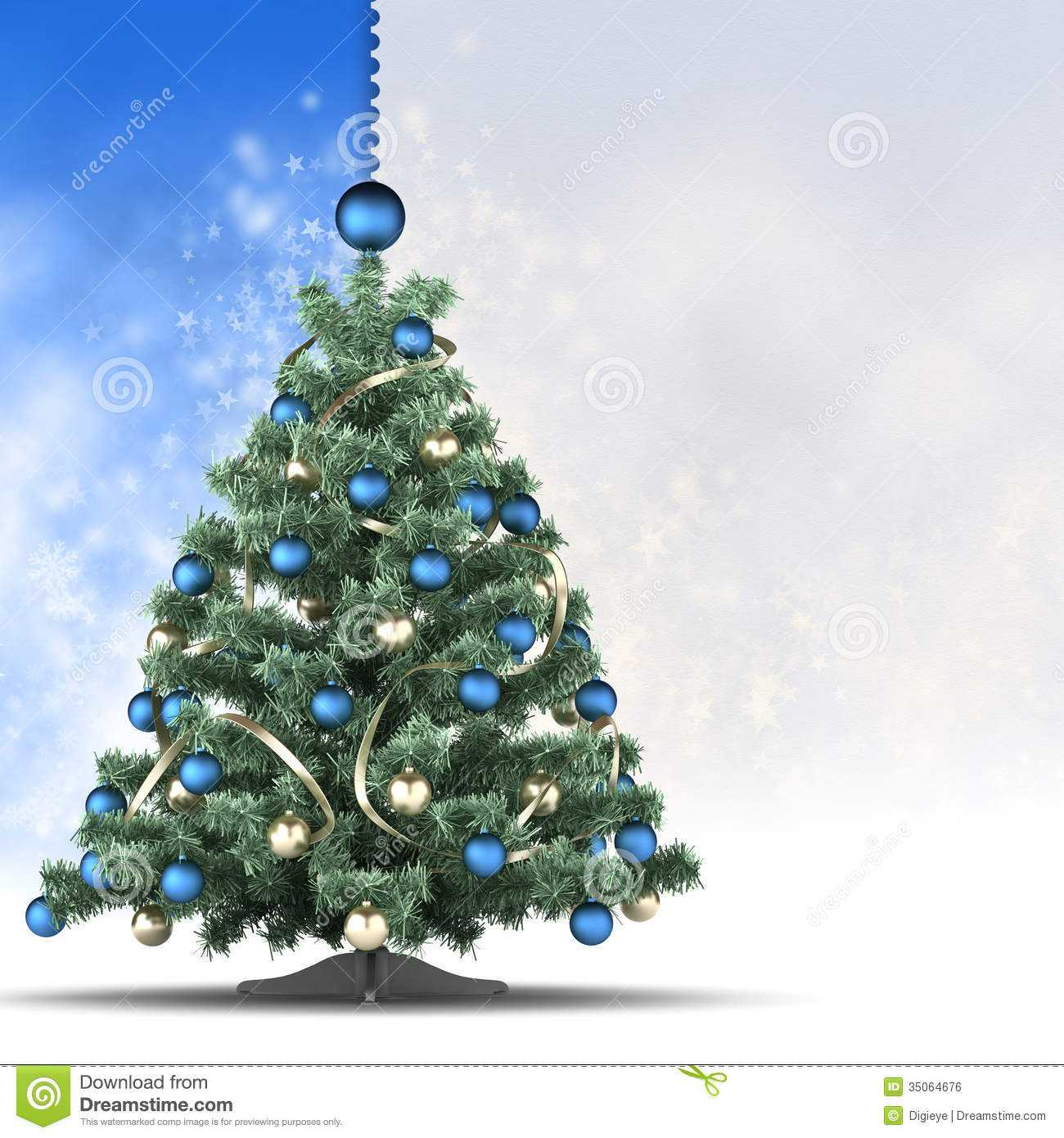 Christmas Card Template - Xmas Tree And Blank Space For Text Regarding Blank Christmas Card Templates Free