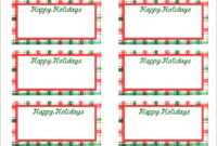 Christmas Gift Tag Template Editable – Wovensheet.co in Free Gift Tag Templates For Word