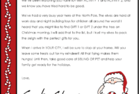 Christmas Letter Borders And Templates Letter Templates intended for Letter From Santa Template Word