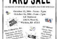 Church Yard Sale Flyer   Gt Midwest: Garage Sale   Church within Garage Sale Flyer Template Word