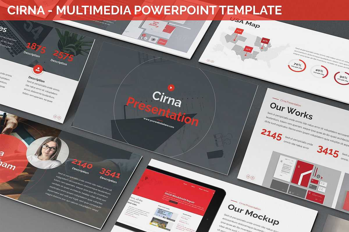 Cirna – Multimedia Powerpoint Template In Multimedia Powerpoint Templates