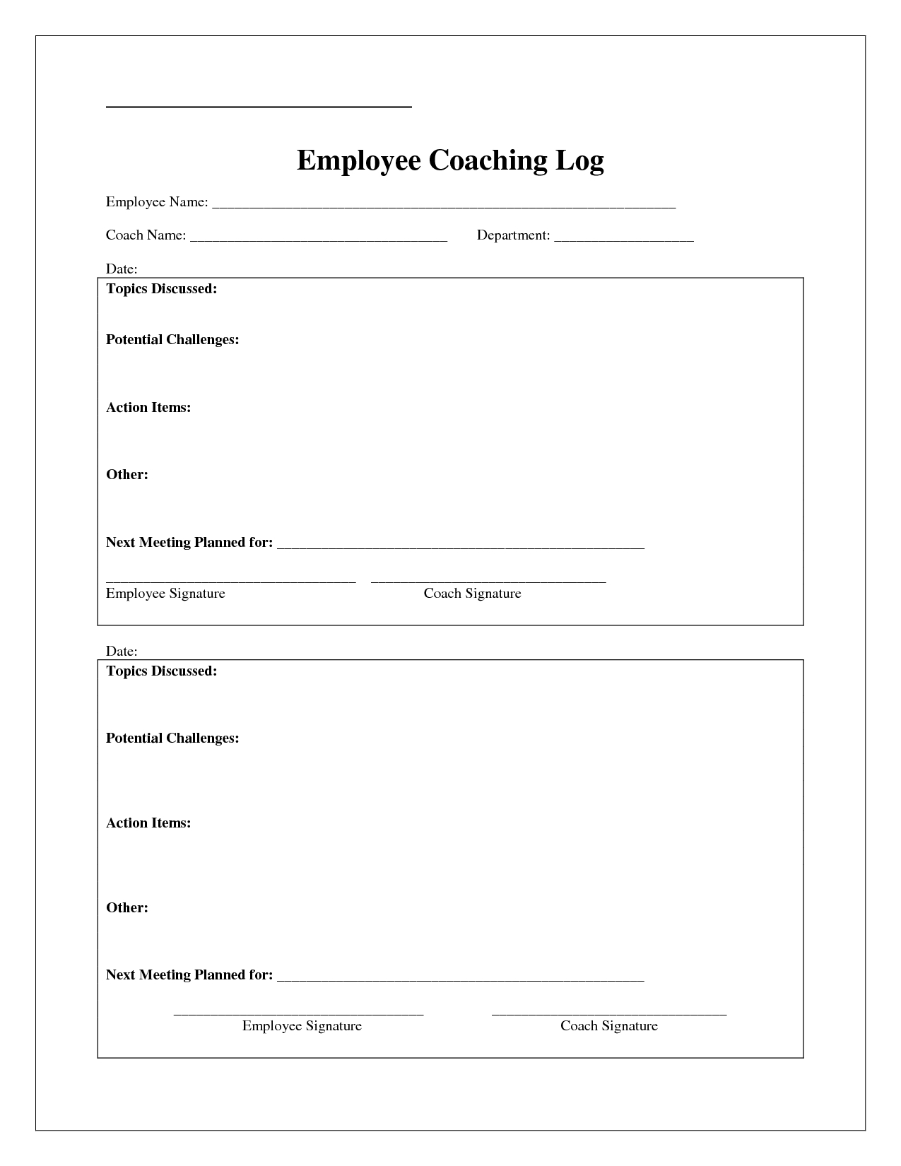 Coaching Log Template - Google Search   Coaching   Coaching Regarding Coaches Report Template