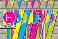 Colorful Banner Template throughout Diy Party Banner Template