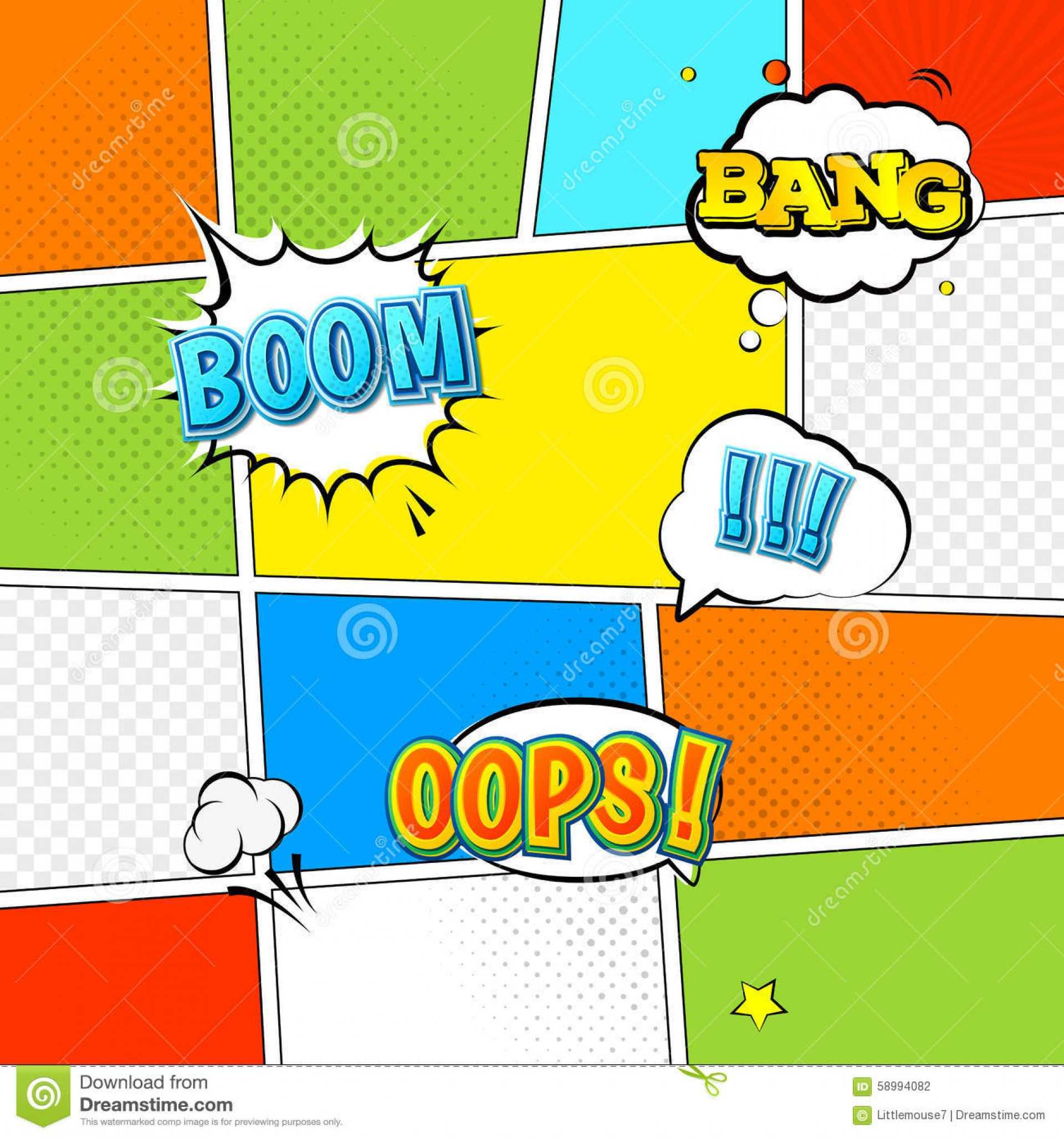 Comic Powerpoint Template Borders Themed Free Dc Comics Book Intended For Powerpoint Comic Template