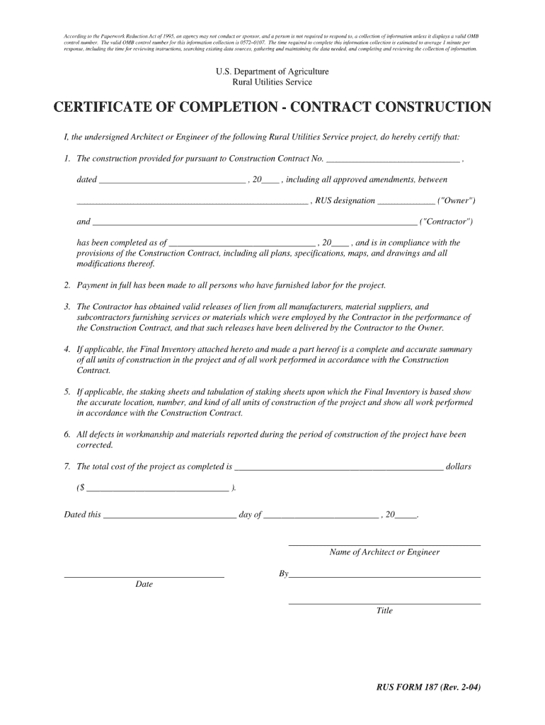 Completion Certificate Sample Construction - Fill Online Inside Certificate Of Completion Construction Templates