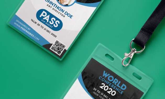 Conference Vip Entry Pass Id Card Template Psd | Psd Print pertaining to Conference Id Card Template