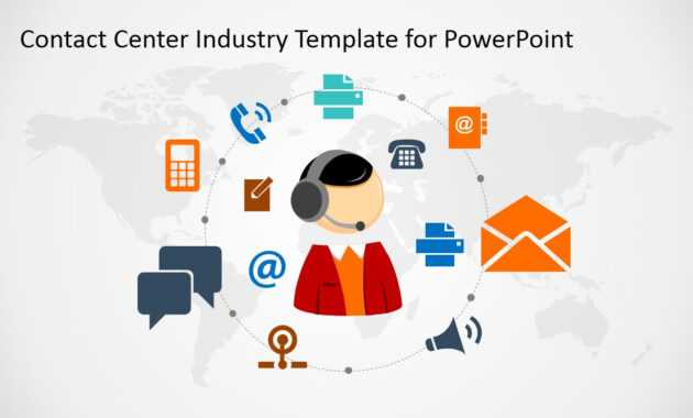 Contact Center Industry Powerpoint Template for Powerpoint Templates For Communication Presentation