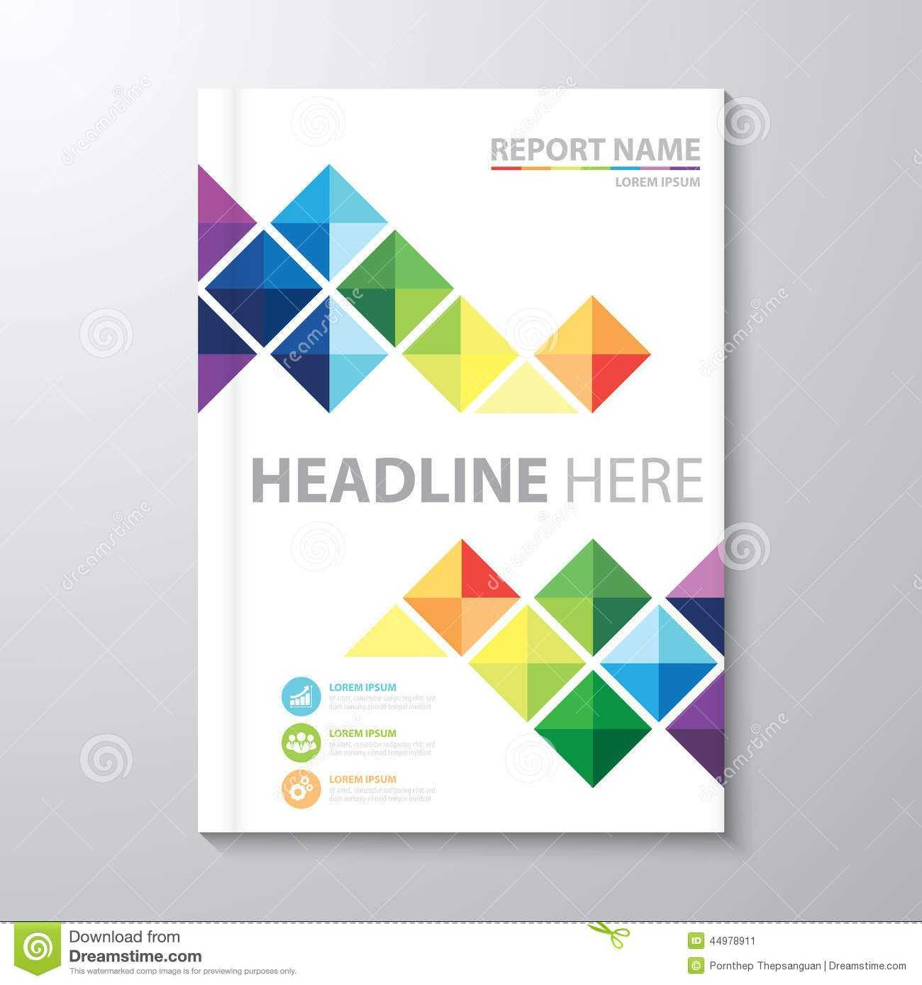 Cover Annual Report Stock Vector. Illustration Of Artwork Regarding Report Cover Page Template Word