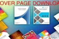 Cover Page In Word Template – Download Editable, Ready To Use (.docx) –  Page De Couverture Word in Report Cover Page Template Word