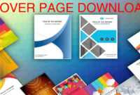 Cover Page In Word Template – Download Editable, Ready To Use (.docx) –  Page De Couverture Word with Cover Page Of Report Template In Word