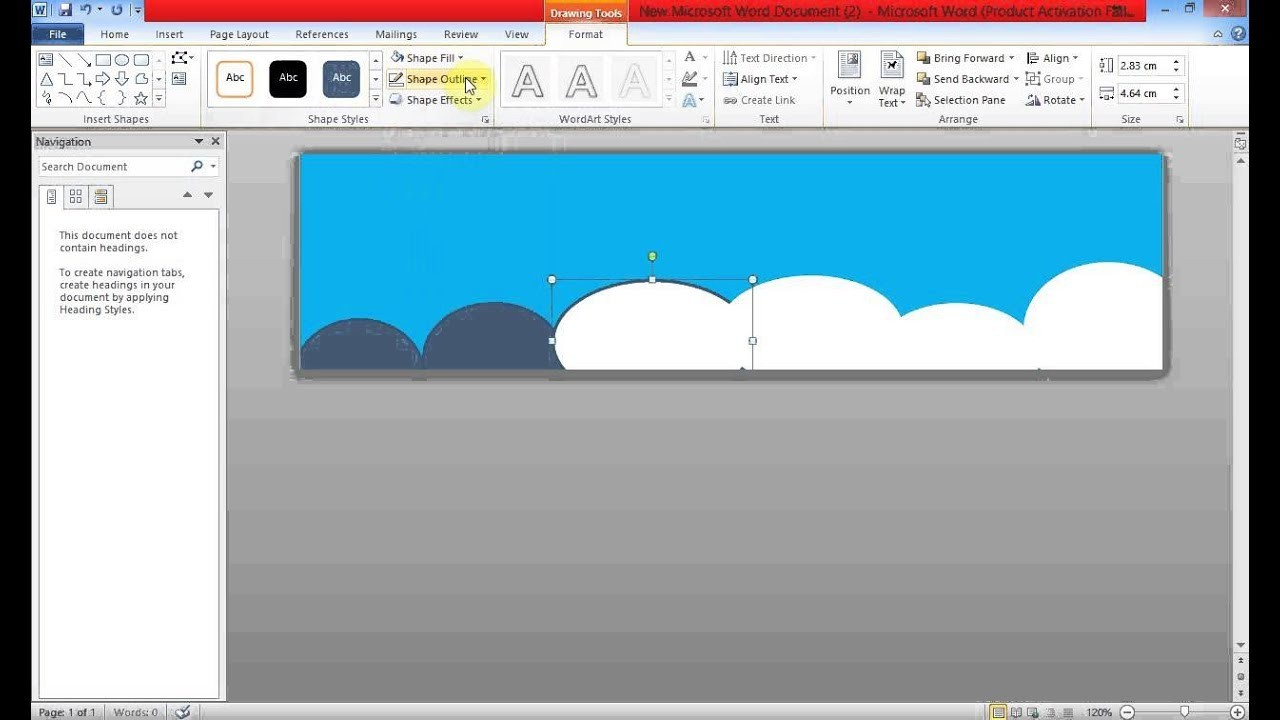 Create Banner Using Ms Word For Banner Template Word 2010