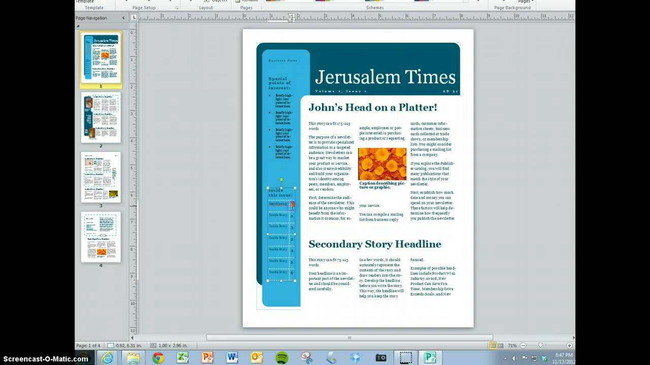 Create Your Magazine Content For Magazine Template For Microsoft Word