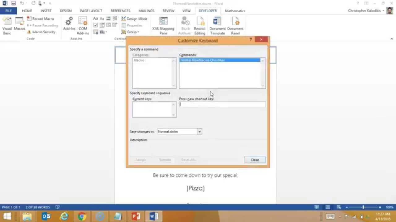 Creating A Macro Enabled Template In Word For Word Macro Enabled Template