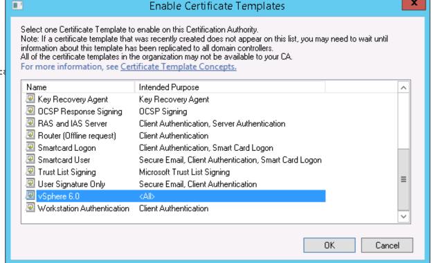 Creating A Vsphere 6 Certificate Template In Active within Workstation Authentication Certificate Template