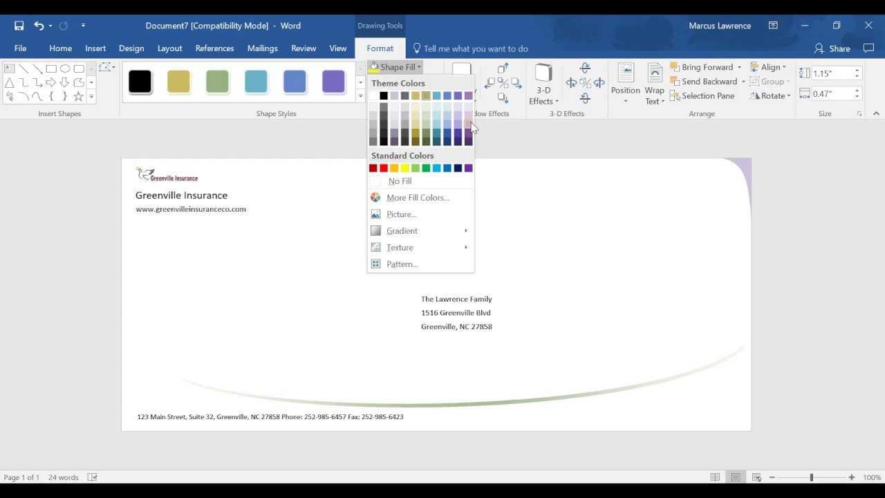 Creating An Envelope Design In Ms Word 2016 Regarding Word 2013 Envelope Template