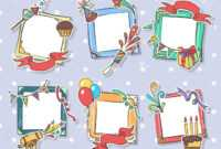 Creative Birthday Frames. Kids Birthday Photo Art Frame Set,.. Within Birthday Card Collage Template