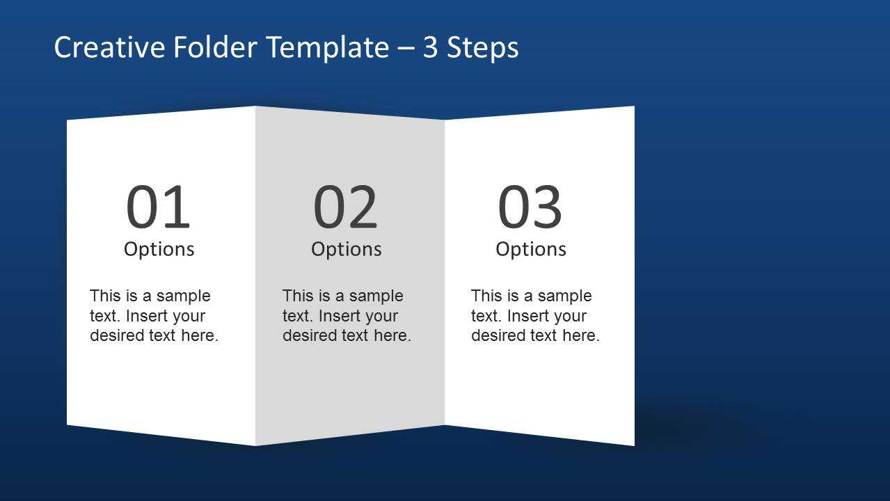 Creative Folder Template Layout For Powerpoint Pertaining To 4 Fold Brochure Template